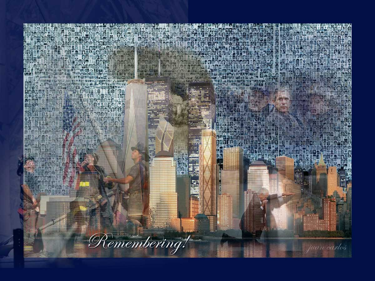 911 remember art work by Juan Carlos of Entertainment Photos at epoof