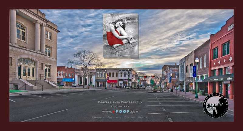downtown mckinney digital display by juan carlos of entertainment photos photographer and digital artist