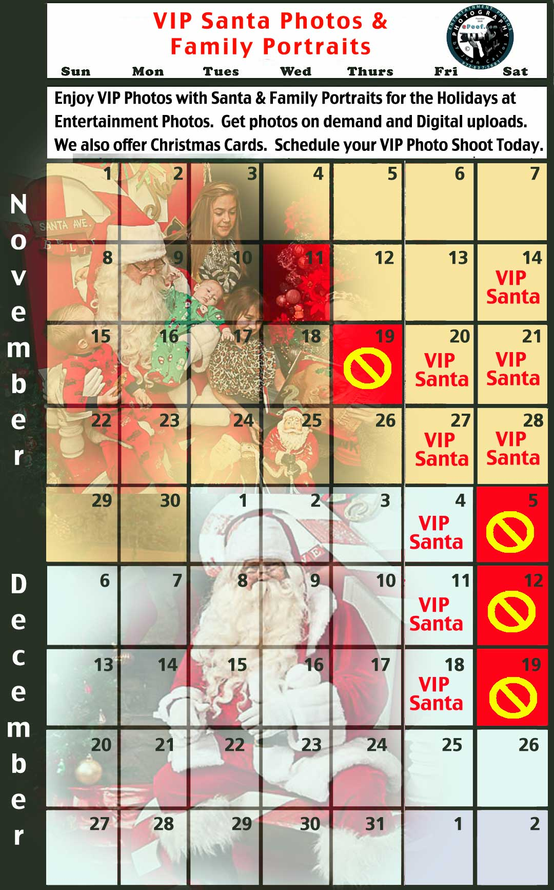 2015 VIP Santa Photos & Family Portraits by Juan Carlos at Entertainment Photos and VIPSantaPhotos